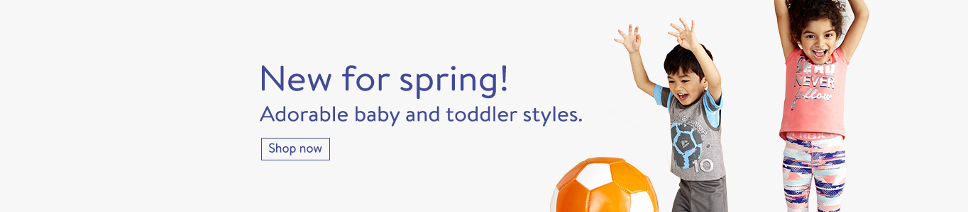 New for spring! Shop adorable baby and toddler styles.