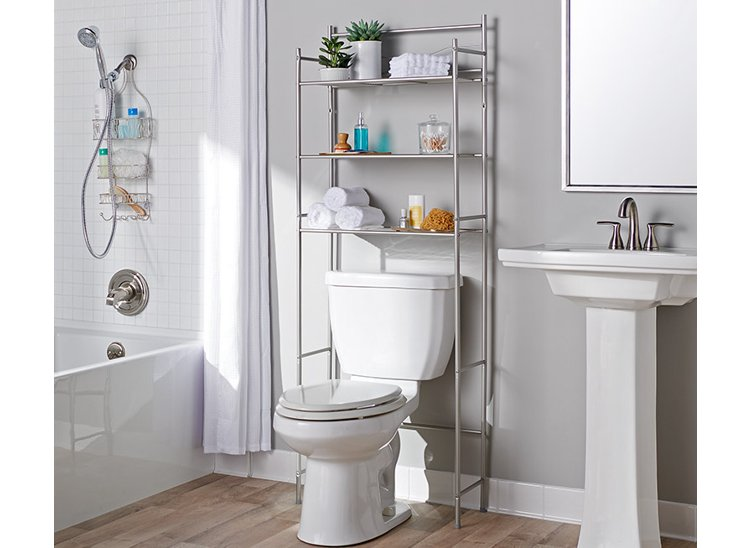 Keep your bathroom organized and tidy with a variety of storage solutions. Shop now