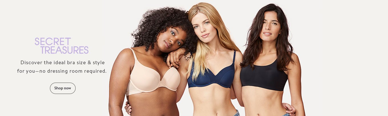 209a6c4ec SECRET TREASURES Discover the ideal bra size   style for you—no dressing  room required
