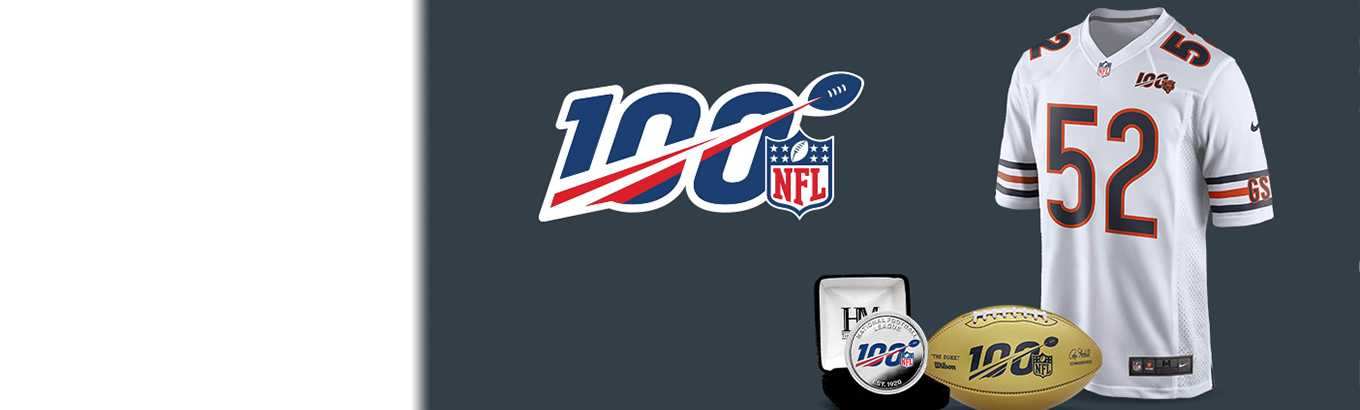 Celebrate the big 100. Kick off the NFL's 100th season with official gear from $29.99.