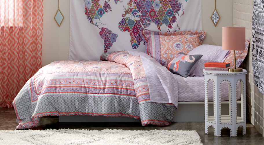 Dream Dorm. Make that boho style fantasy a reality with a laidback look bursting with color & texture!