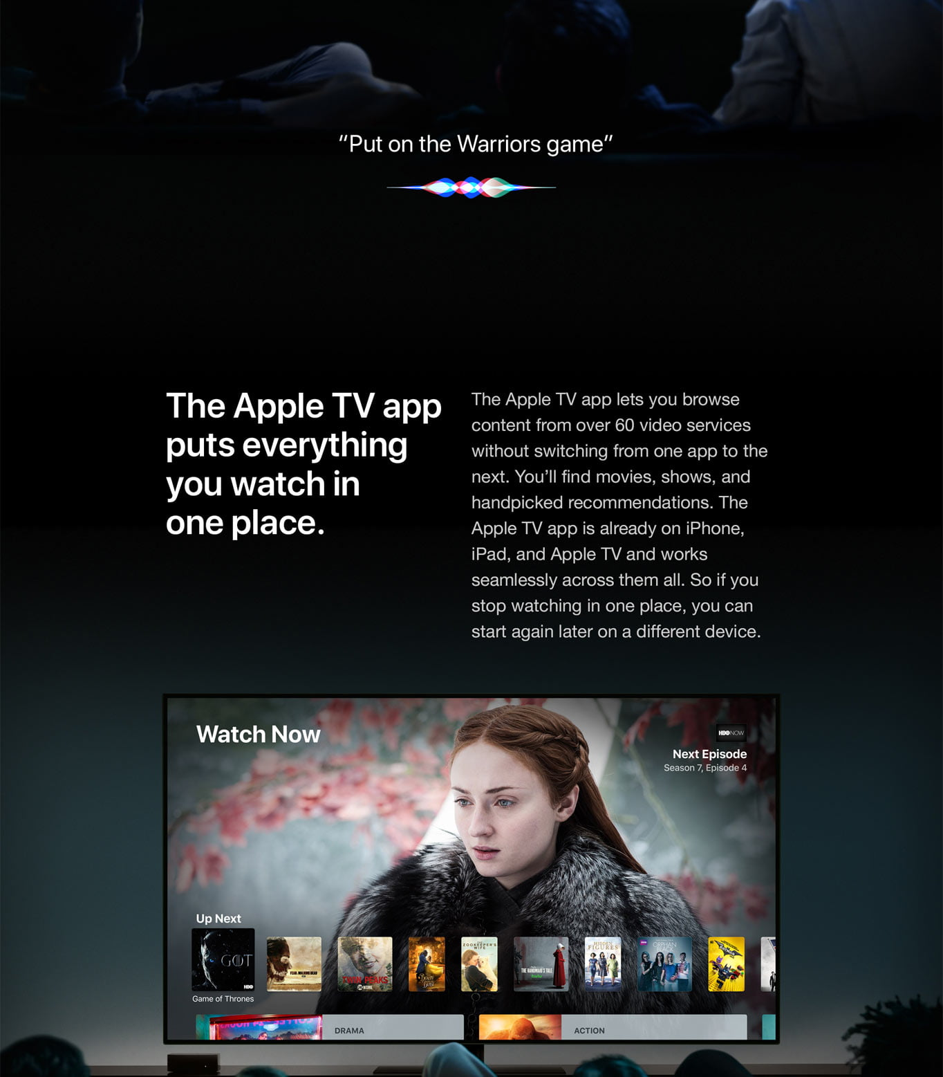 The Apple TV app puts everything you watch in one place