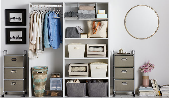 Room-by-room organization hacks