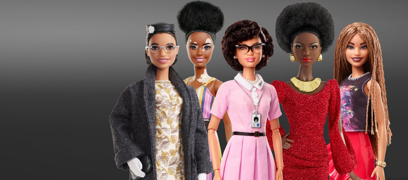 Barbie Black History Month. Inspired. Empowered. Inclusive.