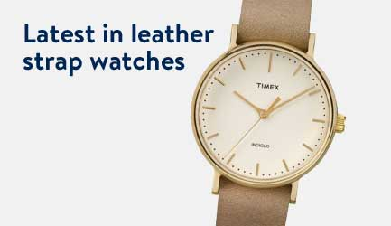 Latest in leather strap watches.