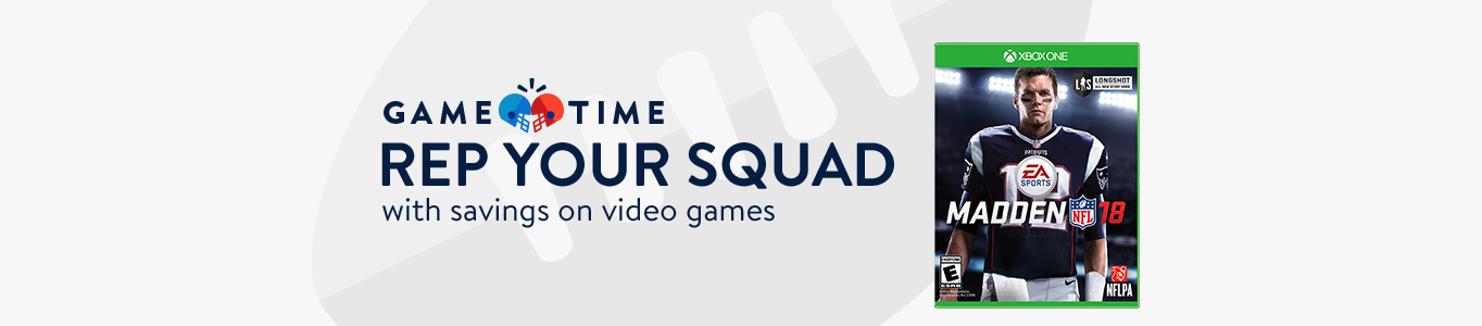 Rep your squad with savings on video games