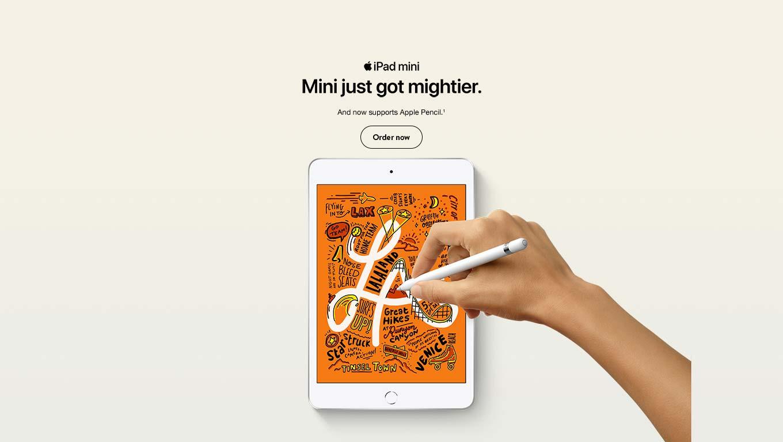 Introducing the new iPad mini. Mini just got mightier.