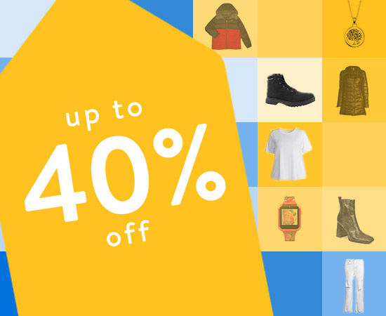 Up to 40 percent off. The big save. On-trend styles at great prices. Shop now.
