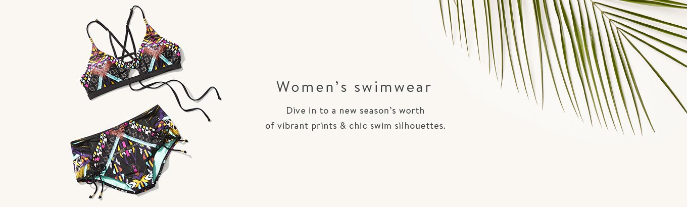 ecc6b17135f4b Women's swimwear. Dive in to a new season's worth of vibrant prints & chic  swim