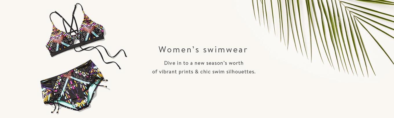 Women's swimwear. Dive in to a new season's worth of vibrant prints & chic swim silhouettes