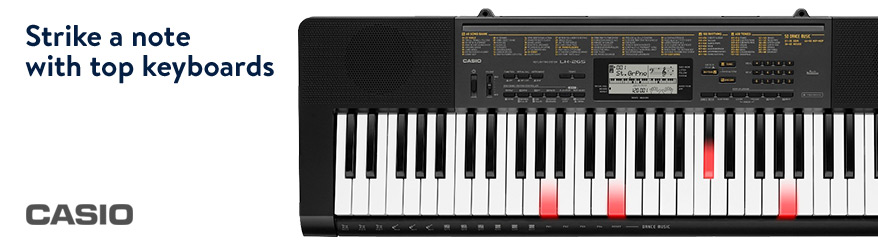Strike a note with top keyboards. Shop Casio.