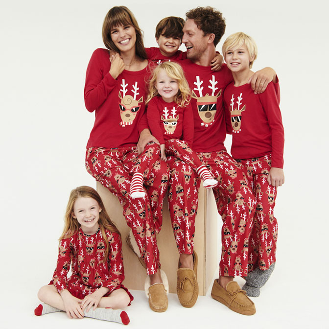d58627f095 Shop cool reindeer PJs collection.