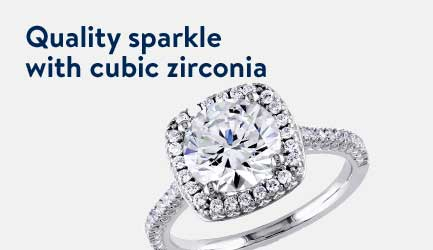 Enjoy quality sparkle with cubic zirconia.