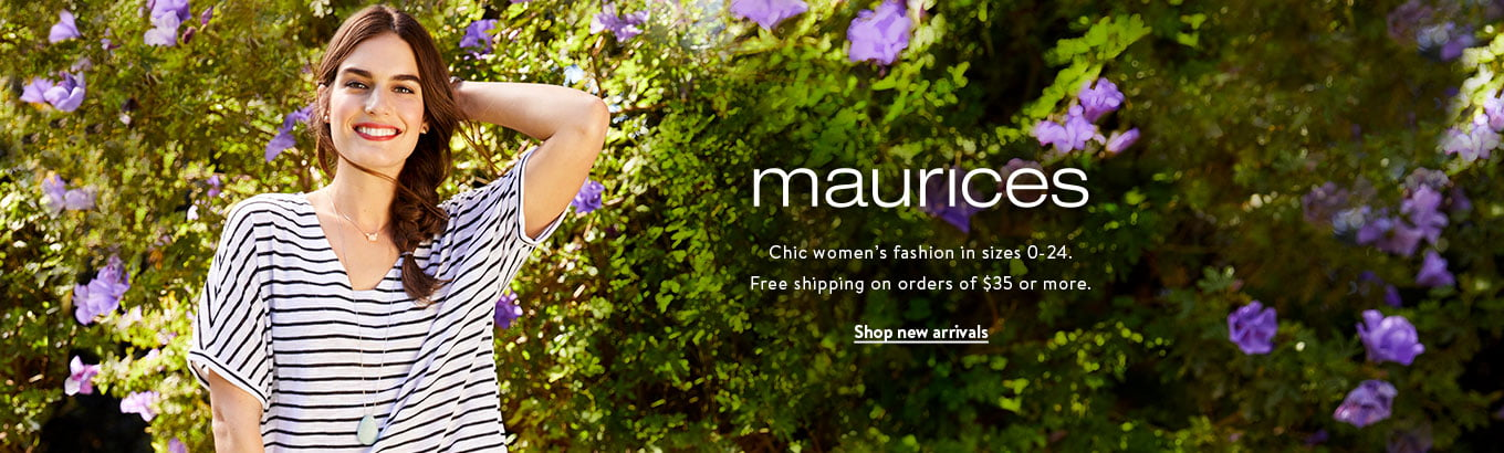 maurices. Discover women's fashion for every occasion in sizes 0-24.