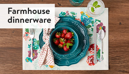 Farmhouse dinnerware.