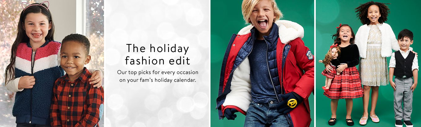 The holiday fashion edit. Our top picks for every occasion on your fam's holiday calendar. #WeDressAmerica