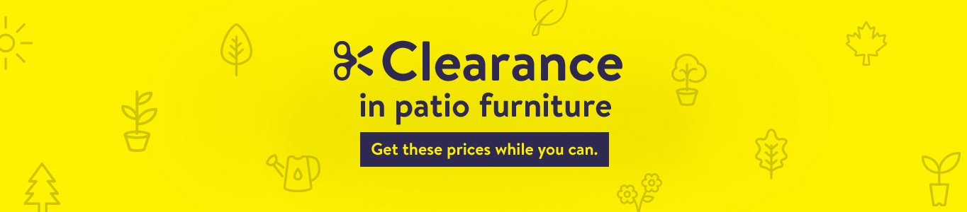 clearance on patio furniture get these prices while you can