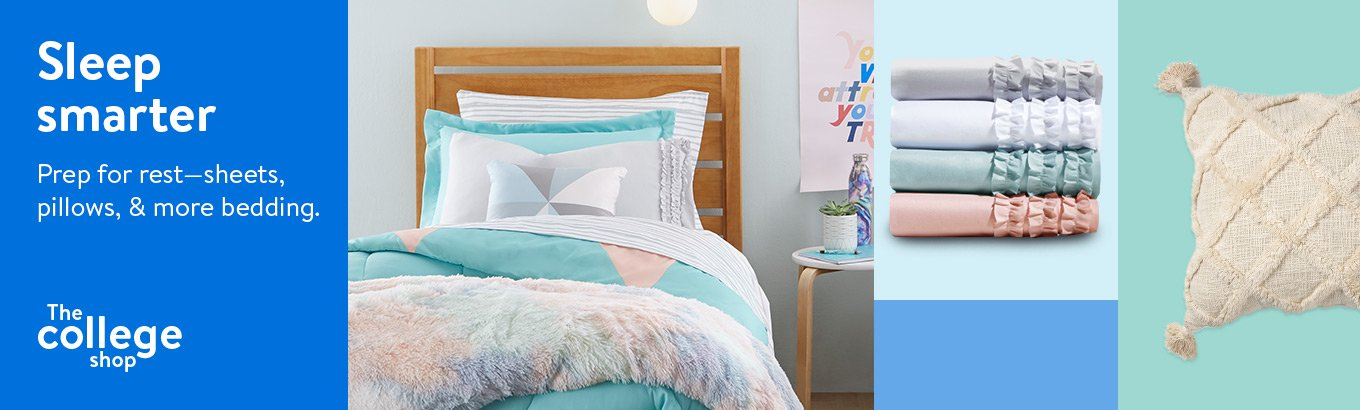 Sleep smarter. Prep for rest—sheets, pillows, and more bedding.