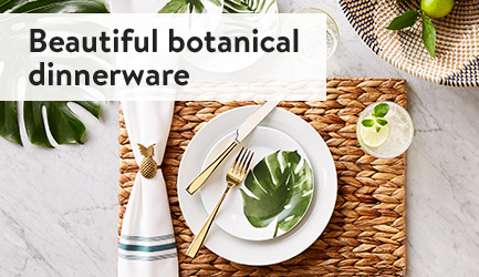 Beautiful botanical dinnerware