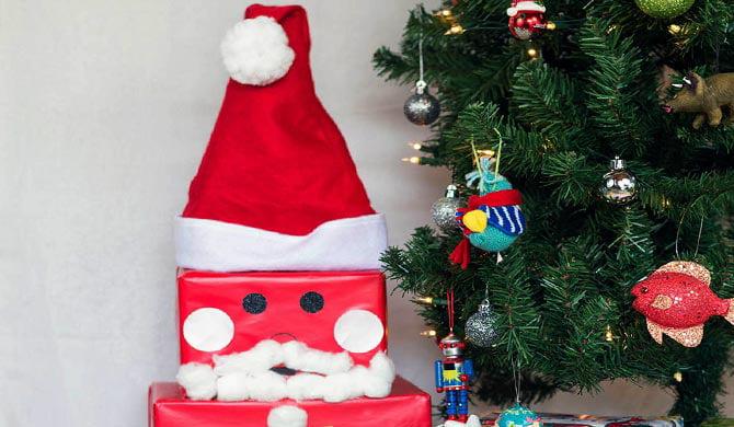 Towering Jolly Santa Claus Gift Box How To Walmart Com