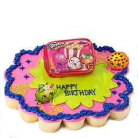 Pink Shopkins Cupcake Cake