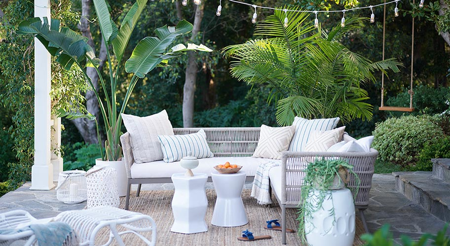 Light and breezy. Shop patio furniture and decor in coastal style.