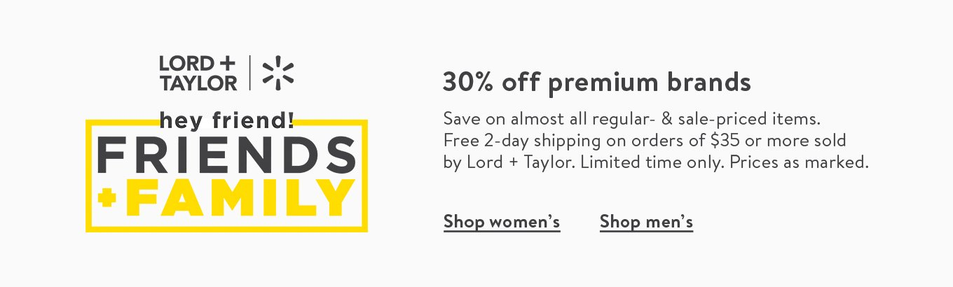 Lord & Taylor 30% Off