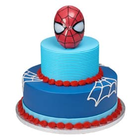 Blue And Red Spider Man Tier Cake