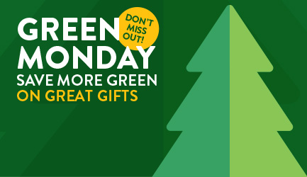 Walmart Green Monday. Save more green on great gifts.