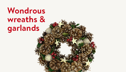 Shop wonderous wreaths and garlands
