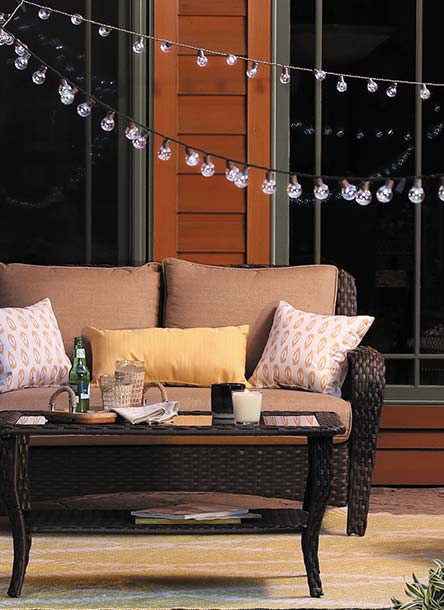 Make Your Patio Amazing With Glittering String Lights Plus Furniture U0026 Decor .