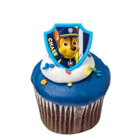 Blue Paw Patrol Cupcake Featuring Chase