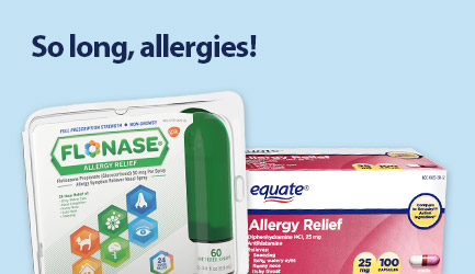 Bye allergies, bye! Shop allergy relief now.