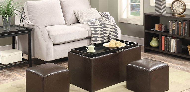 Create extra seating & storage in one.