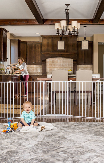 Baby gate buying guide - Regalo extra wide baby gate & playard with walkthrough door - freestanding baby gate
