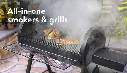 All-in-one smokers and grills