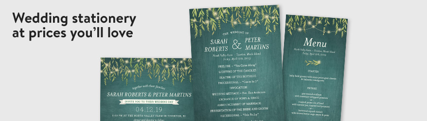 Wedding stationery at prices you'll love