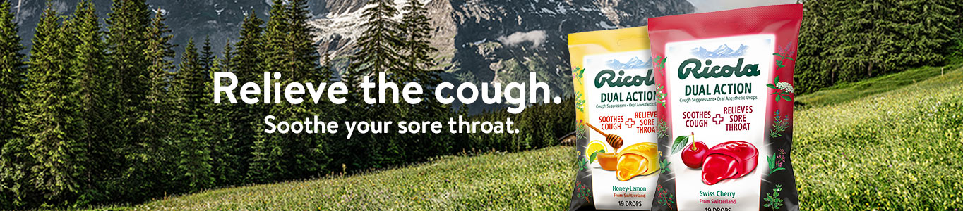 Ricola. Relieve the cough. Soothe your sore throat.