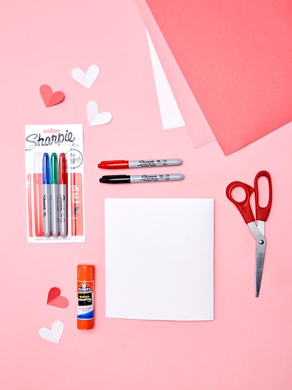 DIY valentines day card craft