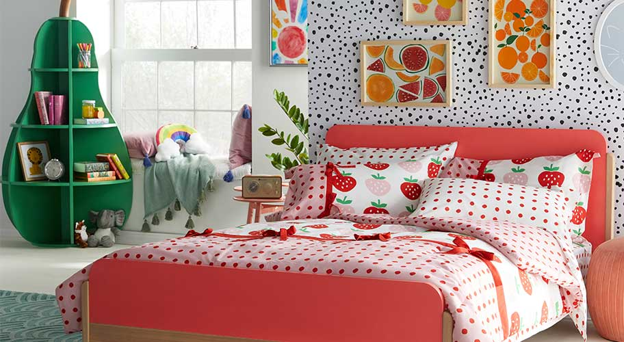 Live sweetly. Lots of color makes a happy place for kids. Thanks to Drew Barrymore's fun Flower Kids collections, you can bring on a bright vibe that's joyful, playful, and designed with sweet dreams in mind.