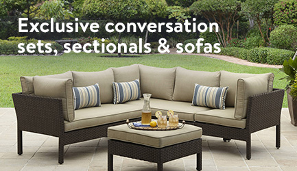 Exclusive conversation sets  sectionals and sofas. Patio Furniture   Walmart com