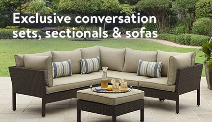 exclusive conversation sets sectionals and sofas