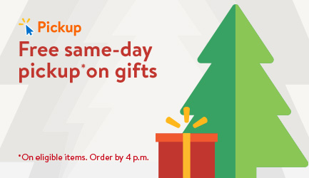 Free same-day pickup on gifts. On eligible items. Order by 4 p.m.