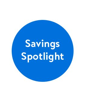 Shop savings spotlight.