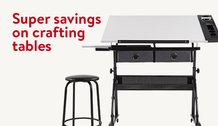 Super savings on crafting tables