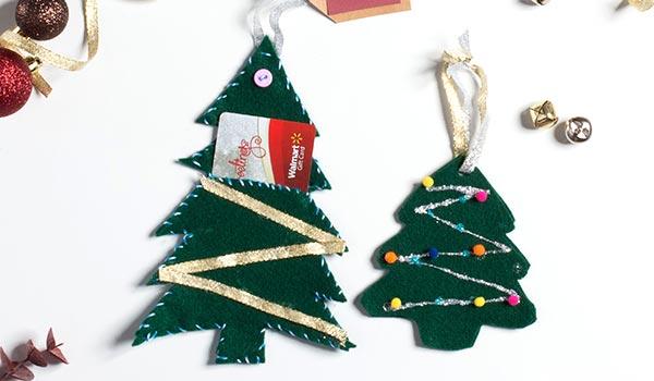 Hanging Felt Tree Ornament Gift Card Idea Walmart Com