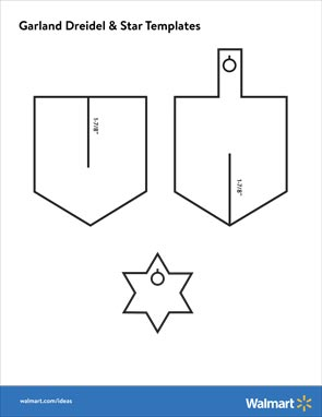 photograph relating to Printable Dreidel referred to as How in the direction of Deliver a Glitter Paper Dreidel Garland -