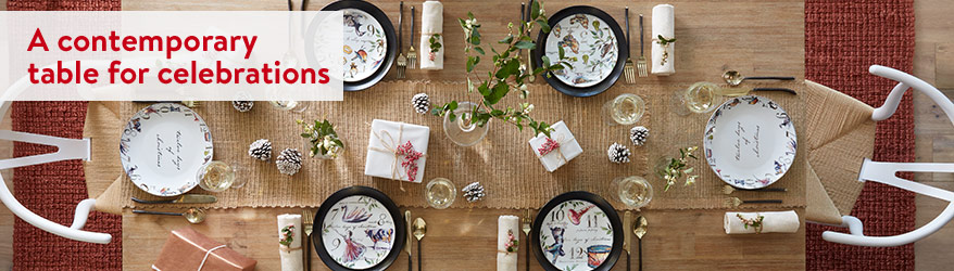 A contemporary table for celebrations