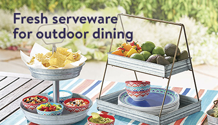 fresh serveware for outdoor dining from better homes and gardens - Better Home And Garden