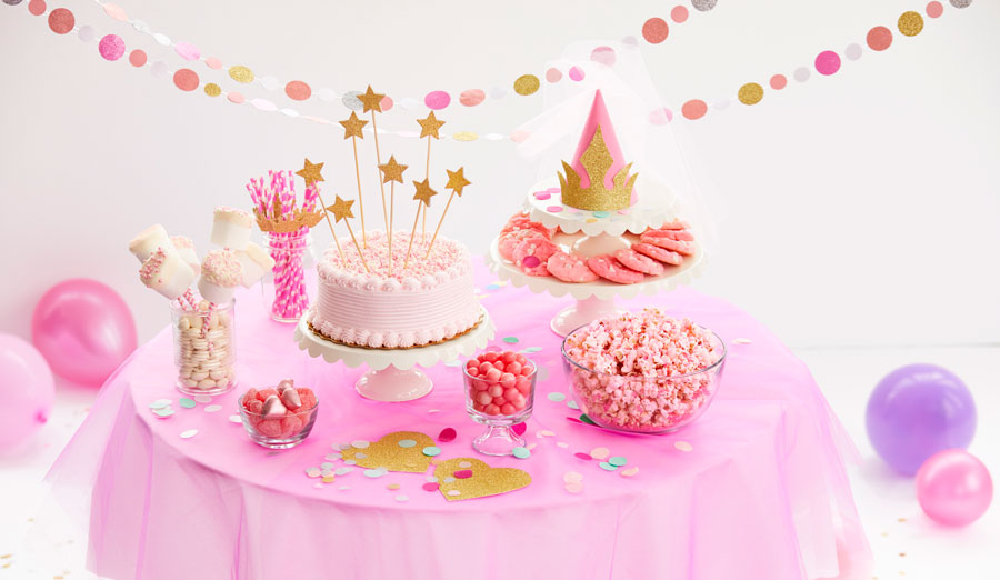 Pink Princess Birthday Party Food & Decor Ideas